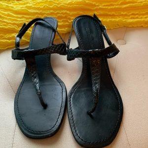 Black Snake skin Sandals
